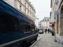Strasburski Francja po ataków terrorystycznych przy boże narodzenie rynkiem obraz stock