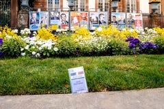 Strasburskich urzędów miasta wyborców menu karciany electorale Zdjęcia Stock