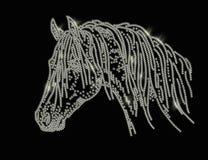 Strass de la cabeza de caballo stock de ilustración