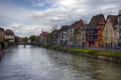 Strassburg - river side Royalty Free Stock Image