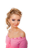 Strassed eyelashes blonde isolated Royalty Free Stock Photo
