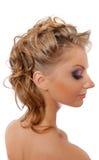 Strassed eyelashes blonde isolated Royalty Free Stock Photography