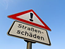 Strassenschaeden Royalty Free Stock Photo