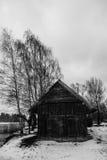 Straszna beli kabina fotografia stock