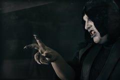 Straszna czarcia łata z wielkimi strasznymi gwoździami Piekło i horror Obraz Royalty Free