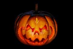 Straszna Halloweenowa bania przypomina Chińską smok głowę, isolat obraz royalty free