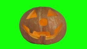 Straszna kaganiec bania dla Halloween zielony ekran ilustracji