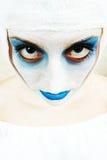 straszna kobieta klaun Obrazy Stock