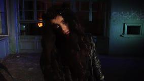 Straszna kobieta w Halloween kostiumu zbiory
