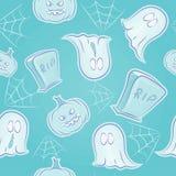 Straszna na Halloween bezszwowa tekstura Zdjęcia Royalty Free