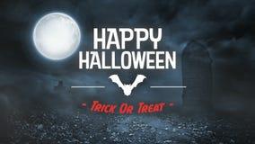 Straszna nietoperz animacja dla Halloween w cmentarzu zdjęcie wideo