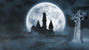 Straszna nietoperz animacja dla Halloween w cmentarzu zbiory wideo