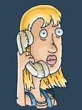 Straszna rozmowa telefonicza royalty ilustracja