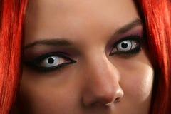 Straszna wampir dziewczyna Zdjęcia Stock