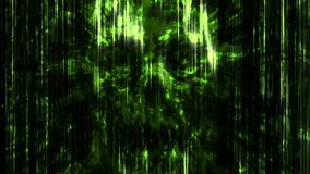 Straszna zielona neonowa czaszki abstrakcja ilustracji