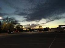 Straszne chmury przed burzą Zdjęcie Stock