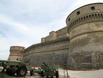 Straszni bastiony forteca San Leo, Włochy, Europa obrazy royalty free