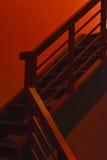 Straszni czerwień kroki Zdjęcia Stock