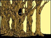 straszni drzewa royalty ilustracja
