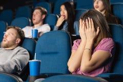 Straszni filmy przy kinem Zdjęcia Stock