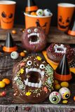 Straszni Halloweenowi donuts obraz royalty free