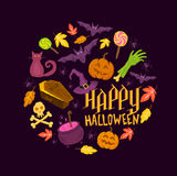 Straszni Halloweenowi symbole ilustracja wektor