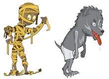 Straszni i śmieszni Halloweenowi potwory Obrazy Royalty Free