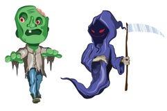 Straszni i śmieszni Halloweenowi potwory Obraz Stock