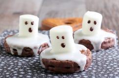 Straszni okrzyki niezadowolenia ducha ciastka Zdjęcia Stock