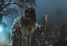 straszny żywy trup halloween fotografia stock