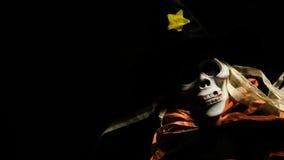 Straszny czaszka potwór w zmroku Fotografia Stock