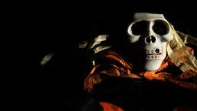 Straszny czaszka potwór w zmroku Obraz Royalty Free