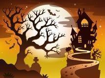 Straszny drzewny tematu wizerunek 1 Obrazy Royalty Free