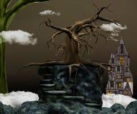 straszny drzewo royalty ilustracja