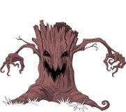 Straszny drzewo ilustracja wektor