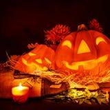 Straszny dyniowy Halloween Fotografia Royalty Free
