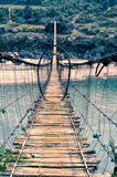 Straszny footbridge Zdjęcia Stock