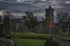 Straszny Grodowy cmentarz Obraz Royalty Free