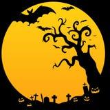 straszny Halloween drzewo Zdjęcia Royalty Free