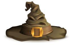 Straszny Halloween kapelusz Czarownicy akcesorium ilustracji