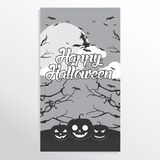 Straszny Halloween przyjęcia invitation/card/background/plakat również zwrócić corel ilustracji wektora Obraz Stock