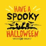 Straszny Halloween przyjęcie ilustracja wektor