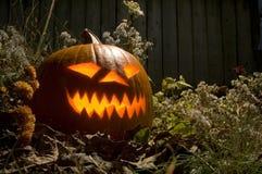 Straszny Halloweenowy Jack o lampion fotografia stock