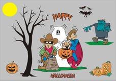 Straszny Halloweenowy publiczny występ fotografia stock