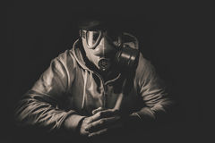 Straszny mężczyzna z maską Obrazy Royalty Free