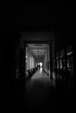Straszny moment w korytarzu uniwersytet Zdjęcia Royalty Free