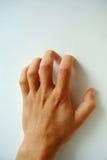 Straszny, przelęknienie ręka Zdjęcie Stock