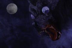Straszny wilkołak Podczas księżyc w pełni Zdjęcia Royalty Free