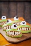 Strasznych Halloween karmowych potworów zdrowy naturalny Zdjęcie Stock