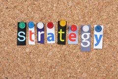Stratégie Photographie stock libre de droits